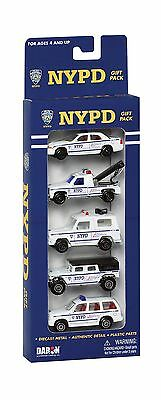 DARON Worldwide Trading NYPD 5 Piece Vehicle Gift Set New