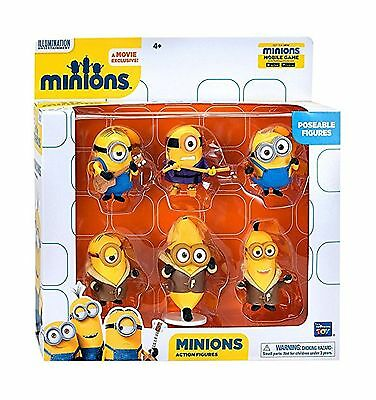 Minions Movie Despicable Me Poseable Action Figure Set Limited Edition New