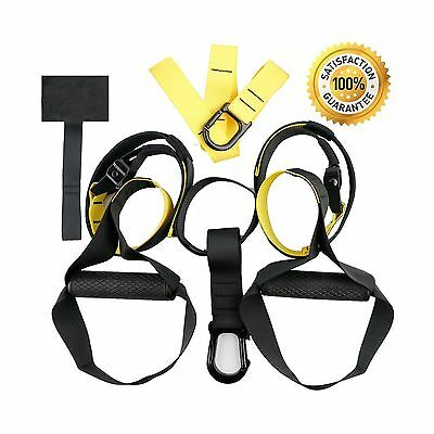 HEAVY DUTY Suspension Trainer Workout Straps with Door Anchor Adjustable ... New