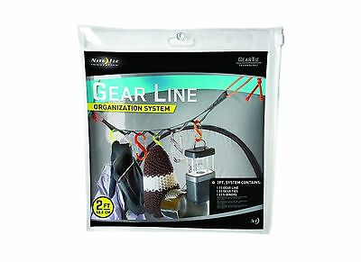 Nite Ize GLN2-M1-R8 Gear Line 2-Feet S-Biner Double-Gated Carabiner Clips... New