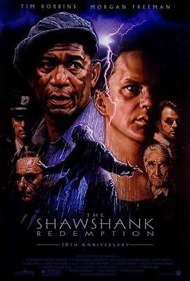 The Shawshank Redemption Movie POSTER 27 x 40 Tim Robbins, A, LICENSED NEW