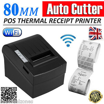 80mm POS Wifi Wireless Thermal Receipt Printer Auto-cutter USB Ethernet Serial
