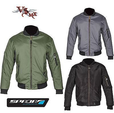 Spada Air Force One Motorcycle Jacket Bomber Motorbike WP Breathable Summer CE 1
