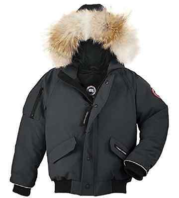 Canada Goose Rundle Bomber with Fur Hood,Graphite,Size S/P(7-8), MSRP $475