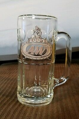 "A&W Root Beer Millennium 2000 Heavy 7"" Tall Float Glass Mug"