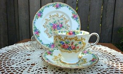 "Vintage Paragon ""Minuet"" Fine Bone China Cup Saucer and Plate Trio"