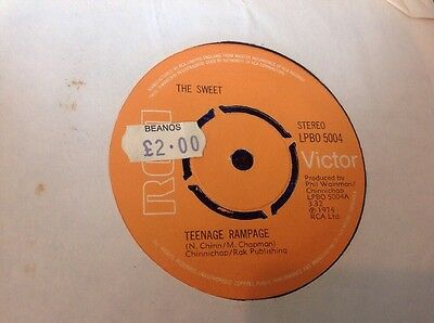 "The Sweet  / Teenage Rampage "" 7"" Single 1974"