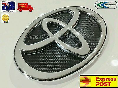 TOYOTA BADGE Carbon fibre Print 160mm x 110mm FOR HILUX AND COMPATIBLE MODELS