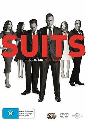 Suits Season 6 : Part 2 (DVD, 2-Disc Set) NEW