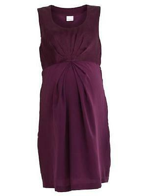 Stunning Maternity Satin Chiffon Flattering Pregnancy Dress Hit from Mamalicious