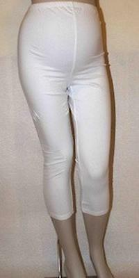 Maternity White 3/4 Stretchy Summer Pregnancy Short Cropped Leggings Mamalicious