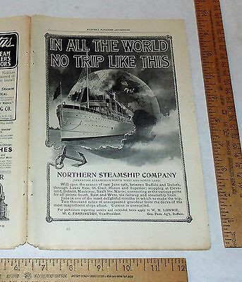NORTHERN STEAMSHIP - June 1900 - paper Advertisement - Magazine Ad - full page
