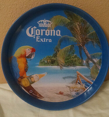 Vintage Rare Beer Cerveza Corona Carrying Serving Carry Tray Mancave Bar Decor