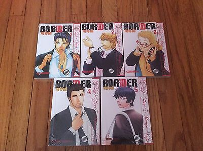 Border volumes 1 2 3 4 5 in English yaoi new
