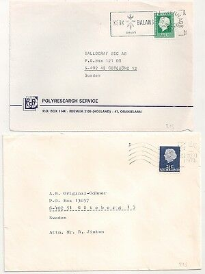 HOLLAND NETHERLANDS FRONT and COVER TO SWEDEN. L815