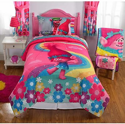 Trolls Show Me A Smile Bed In Bag Bedding Set Twin