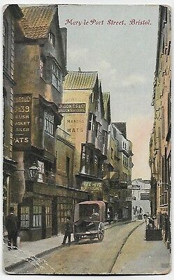 Vintage Postcard.  Mary-le-Port Street, Bristol. Unused.  Ref:74468