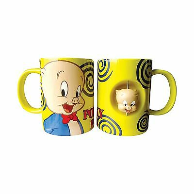 Westland Giftware 4-Inch Ceramic Spinner Mug 12-Ounce Looney Tunes Porky ... New