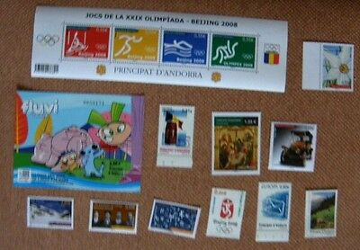 Beau lot timbres neufs Andorre