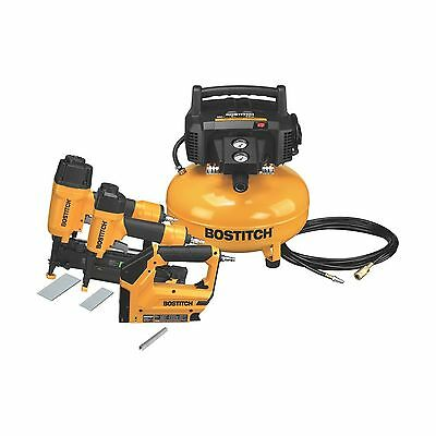 BOSTITCH BTFP3KIT-CA 3-Tool and Compressor Combo Kit New