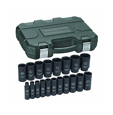 GearWrench 84934 1/2-Inch Drive Impact Socket Set Deep SAE 19-Piece New