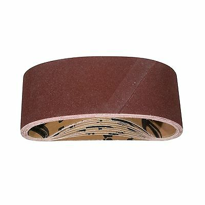 POWERTEC 110810 80 Grit Aluminum Oxide Sanding Belts Pack of 10 3-Inch X ... New