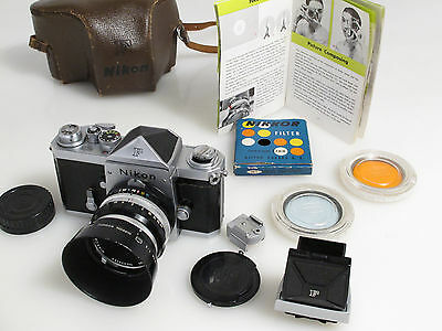 Very Early Batch Rare Nikon F 6404790 + 5cm lens 9 blades, Plain Prism & more