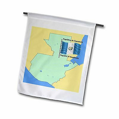 3dRose fl_46647_1 Map and Flag of Guatemala with Republic of Guatemala in... New