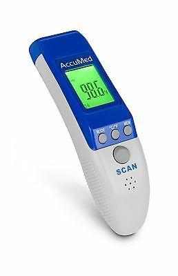 AccuMed AT2104 Non-Contact Instant-Read Handheld Infrared Medical Thermom... New