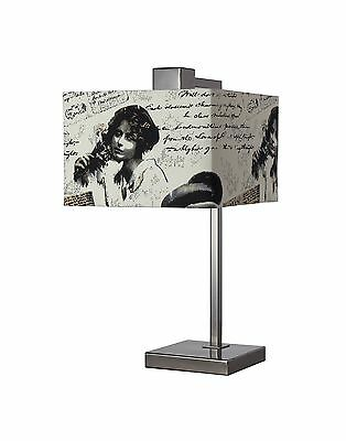 Dimond D2160 10-Inch Width by 19-Inch Height Meade Table Lamp in Black Ni... New
