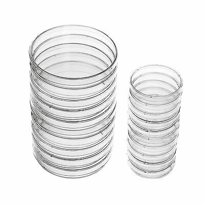 eBoot Plastic Petri Dish Sterile Dishes with Lid 100 mm and 60 mm 20 Pieces New
