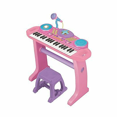 Bruin - Light-Up Keyboard with Stool - Pink New