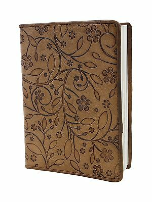 Store Indya Leather Diary Journal Planner Embossed with Floral Motif and ... New