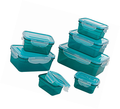 Plastic Food Storage Container - Set 14 Pieces Dishwasher Safe Clip Lid