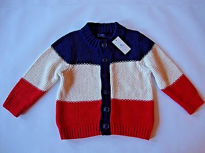Baby Gap Toddler Baby Boys Size 12-18 Months Striped Long Sleeve Sweater NWT