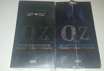 Oz - The Complete First Season and Second Season BRAND NEW SEALED [VHS]