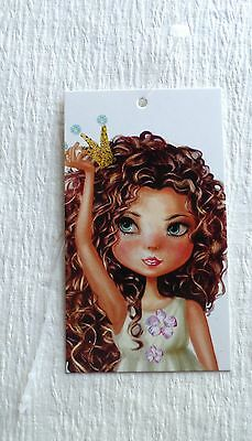 100 Hang Tags Retail Tags Cute Princess Boutique Tags Price Tags  Plastic Loops