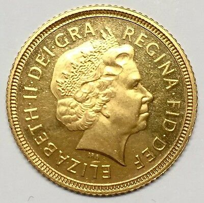 2001 *PROOF* HALF GOLD SOVEREIGN Elizabeth II (Fourth Portrait) - UNC
