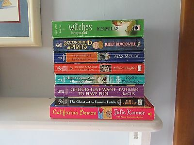 Lot of 8 Cozy Mystery Books Paranormal Juliet Blackwell Allison Kingsley Pressey