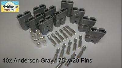 Anderson SB175 Connector Kit GRAY  6325G5 10 Connectors 20 Pins 0,2, or 4 AWG