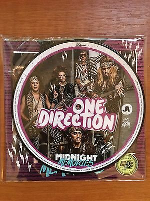 """One Direction 1D - Midnight Memories - 7"""" Vinyl Picture Disc - New"""