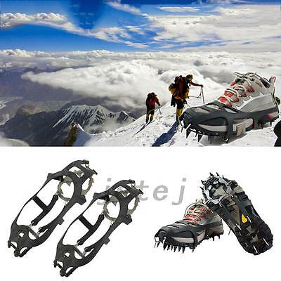 18 Teeth Anti-slip Ice Snow Outdoor Climbing Shoe Covers Spike Cleats Crampons