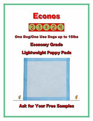 "800-23x24"" Econos Lightweight Economy Puppy Training Pads FREE SAMPLES"