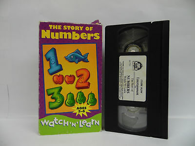 WATCH N LEARN VHS The Story of Numbers Letters Sounds and Words