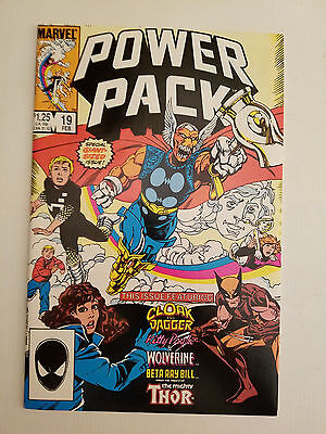 Power Pack #19 NM+ 9.6 (1986 Marvel)  Wolverine Early Cloak and Dagger App.