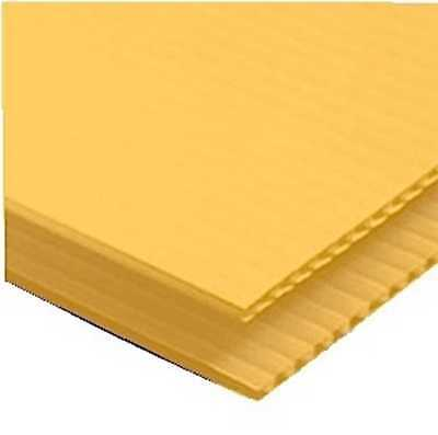 """YELLOW Corrugated Plastic 12"""" x 18"""" 4mm Coroplast yard signs blank PACK OF 10"""