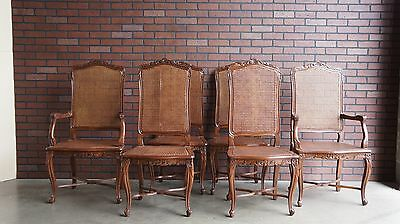 French Provincial Dining Chairs / Cane Chairs / Dining Chairs Set of 6 Chairs