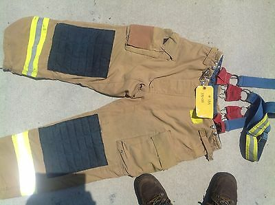 Morning Pride Fire Fighter Turnout Pants size 38 2004-2007 #a137-145
