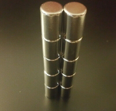 10 x Neodymium cylinder 10mm X 15mm  Strong Rare Earth N50 Magnets