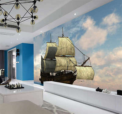 Awesome Sailing Ship Full Wall Mural Photo Wallpaper Print Kids Home 3D Decal
